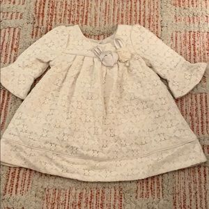 Infant baby girl LAURA ASHLEY Cream Lace Dress 3T